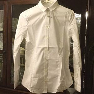 Burberry white button down shirt.